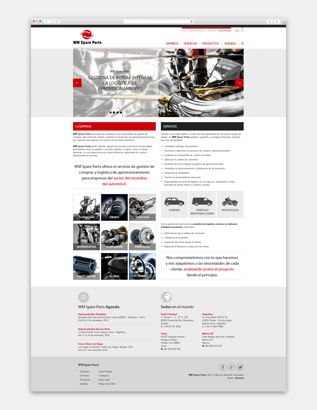 Disseny Web WM Spare Parts Website