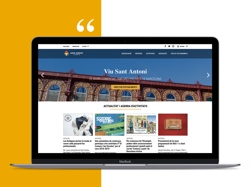 Sant Antoni Comerç Website