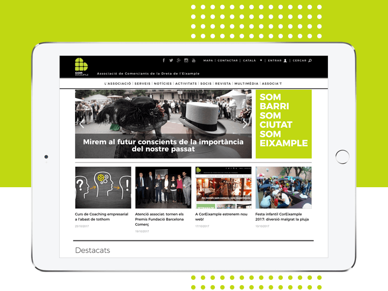 CorEixample Website